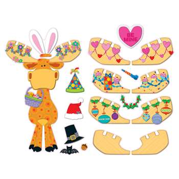 Celebrate With Moose & Friends Bulletin Board Set By Carson Dellosa