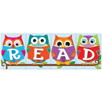 Whooo Loves Reading Bulletin Board Set By Carson Dellosa