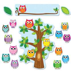 Colorful Owls Behavior Bulletin Board Set By Carson Dellosa