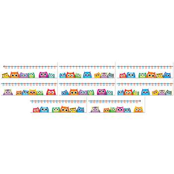 Colorful Owls Number Line, CD-110266