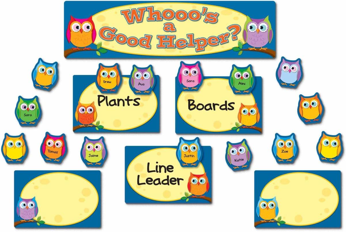 colorful owls job assignment cd110269 carson dellosa