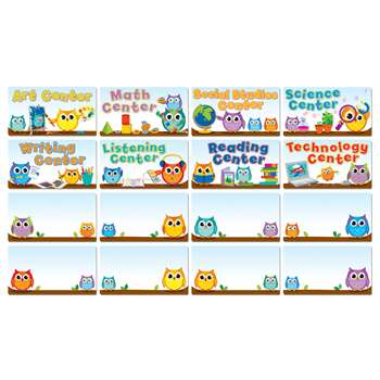 Colorful Owls Center Signs, CD-110274