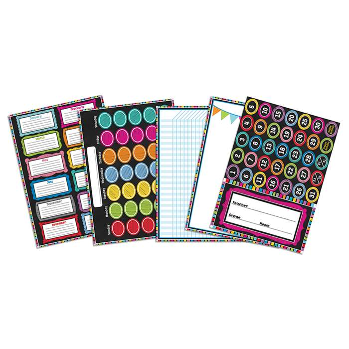 Colorful Chalkboard Bb Set, CD-110277