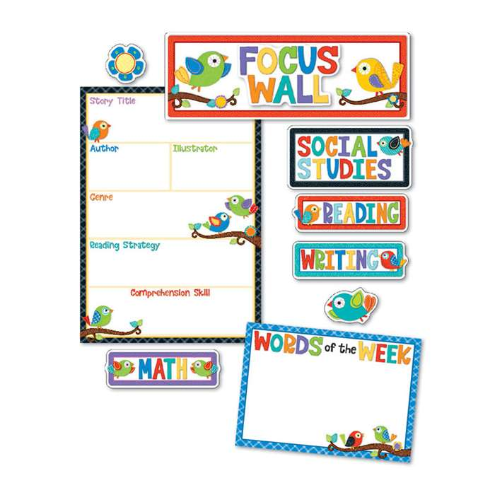 Boho Birds Focus Wall Bb Set, CD-110296