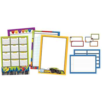 Super Power Classroom Organizers Bulletin Board Se, CD-110312