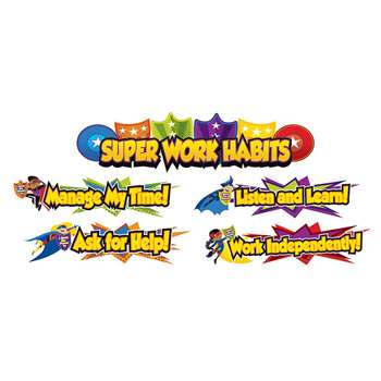 Super Power Super Work Habits Bulletin Board Set, CD-110315