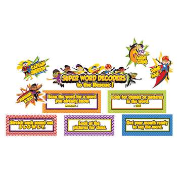 Super Power Decoding Words Bulletin Board Set, CD-110316
