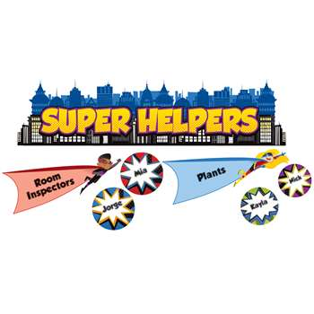 Super Power Super Helpers Bulletin Board Set, CD-110317