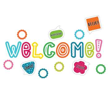 School Pop Welcome Bulletin Board Set, CD-110333