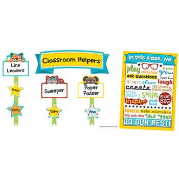 Hipster Classroom Management Bulletin Board Set, CD-110337