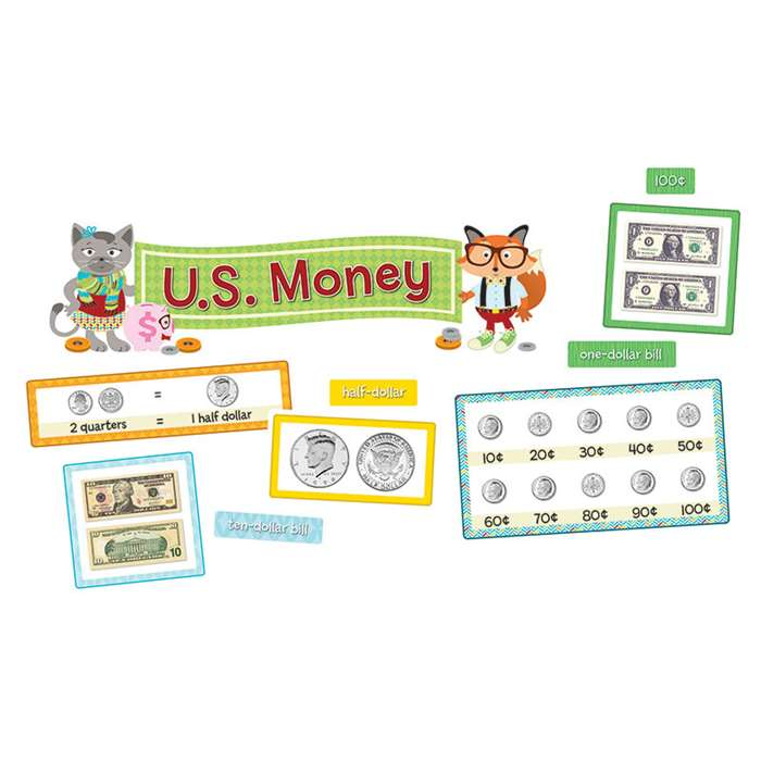 Hipster US Money Bulletin Board Set, CD-110340
