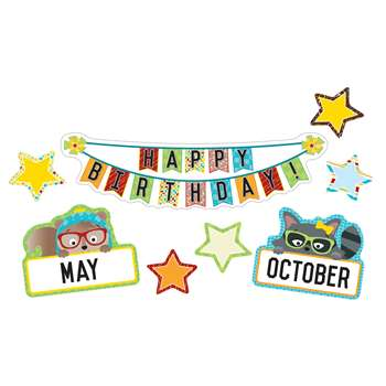 Hipster Birthday Bulletin Board Set, CD-110341