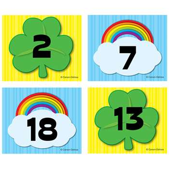 Shop Shamrock Rainbow Calendar Cover Ups - Cd-112557 By Carson Dellosa