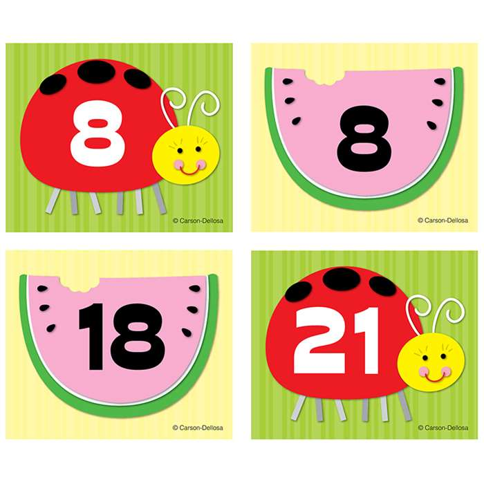 Shop Watermelon Ladybug Calendar Cover Ups - Cd-112562 By Carson Dellosa