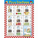 Pizza Fractions By Carson Dellosa