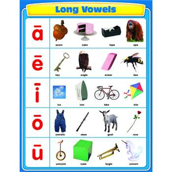 Long Vowels Chartlet By Carson Dellosa