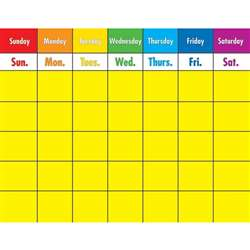 Colorful Calendar Laminated Chartlet By Carson Dellosa