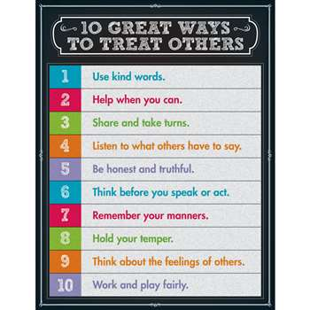 10 Great Ways To Treat Others Chartlet Gr 1-5, CD-114123