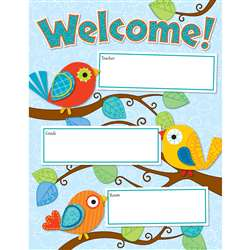 Boho Birds Welcome Chart By Carson Dellosa