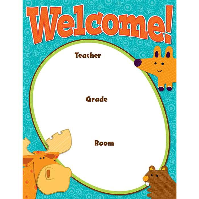 Moose & Friends Welcome Chart, CD-114191
