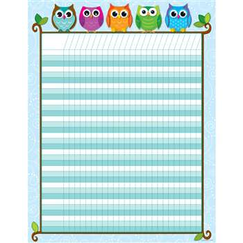 Colorful Owls Incentive Chart By Carson Dellosa