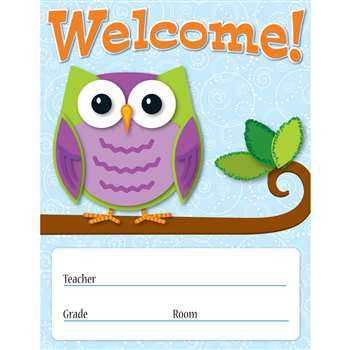 Colorful Owls Welcome Chart By Carson Dellosa