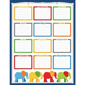Parade Of Elephants Birthday Chart, CD-114203