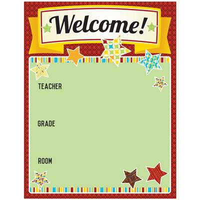 Hipster Welcome Chartlet, CD-114209
