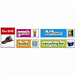 Classroom Labels Photographic Quick Stick Bulletin Board Set Gr K-2 By Carson Dellosa