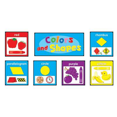 Colors And Shapes Quick Stick Bulletin Board Set Gr Pk-2 By Carson Dellosa