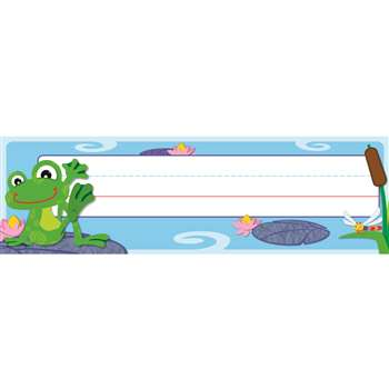 Funky Frogs Desk Name Plates By Carson Dellosa