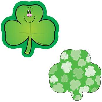 Mini Cutouts Single Shamrocks By Carson Dellosa