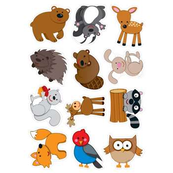 Woodland Animals Cut Outs 36Ct By Carson Dellosa
