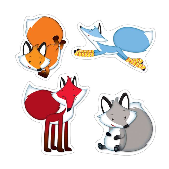 Playful Foxes Colorful Cut Outs, CD-120164