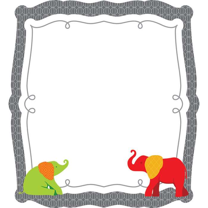 Elephant Colorful Cut Outs Gr Pk-8, CD-120169