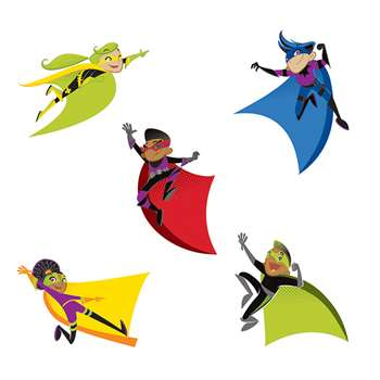 Super Power Super Kids Cut Outs, CD-120185