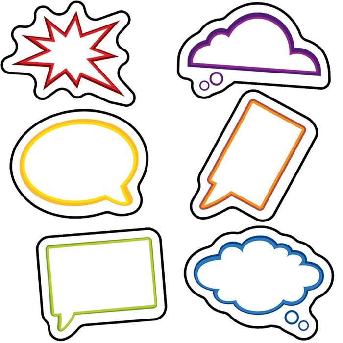 Super Power Speech Bubbles Cut Outs, CD-120187