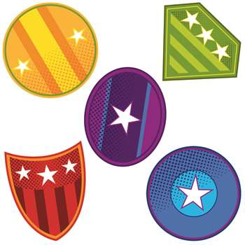 Super Power Shields Cut Outs, CD-120189