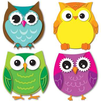 Colorful Owls Cut Outs, CD-120195
