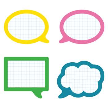 School Pop Speech Bubbles Cut Outs, CD-120208
