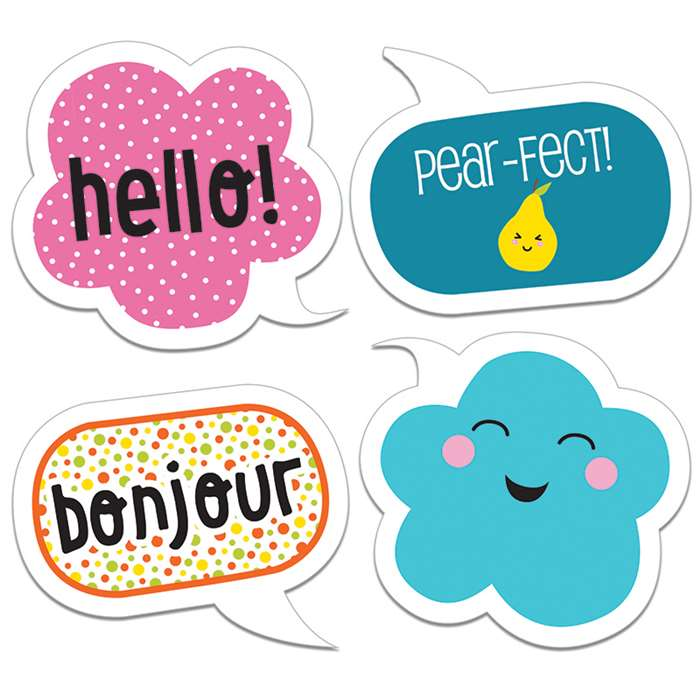 School Pop Happy Talk Cut Outs, CD-120209