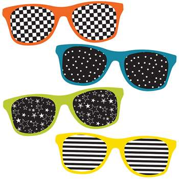 School Pop Sunglasses Cut Outs, CD-120210