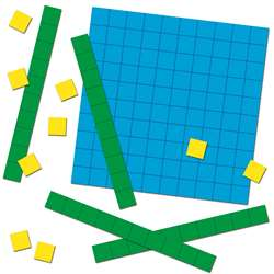 Base Ten Blocks Colorful Cut Outs Gr K-5, CD-120497