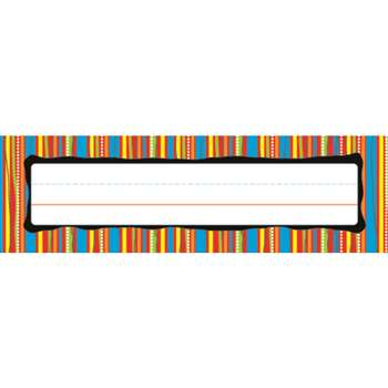 Deskplates Colorful Stripes By Carson Dellosa