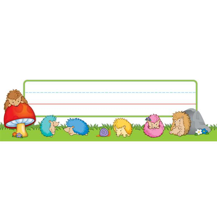 Happy Hedgehogs Nameplates, CD-122032
