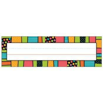 Stylin Stripes Deskplates Gr Pk-5, CD-122126