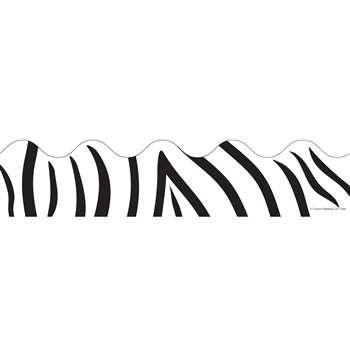 Border Zebra Print Scalloped by Carson Dellosa: Border