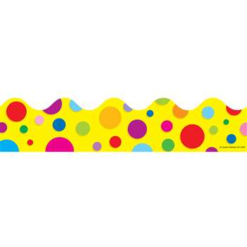 Border Colorful Dots Scalloped By Carson Dellosa