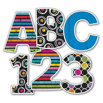 "Colorful Chalkboard 4"" Ez Letters, CD-130059"