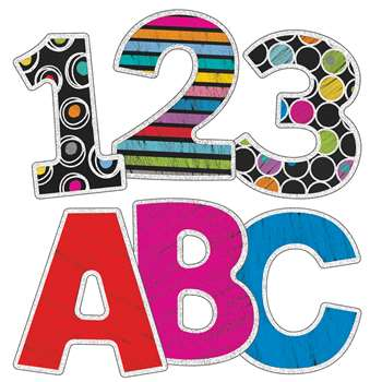 "Colorful Chalkboard 3"" Ez Letters, CD-130060"
